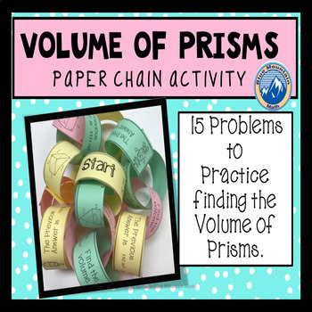 Volume of Prisms Paper Chain Activity