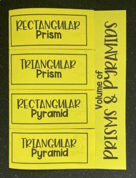 Volume of Prisms & Pyramids (Foldable)