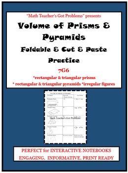 Volume of Prisms & Pyramids Foldable & Cut & Paste Activity-7G6