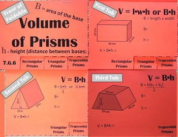 Volume of Prisms (Rectangular, Triangular, Trapezoidal)