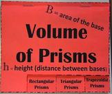 Volume of Prisms (Rectangular, Triangular, Trapezoidal)