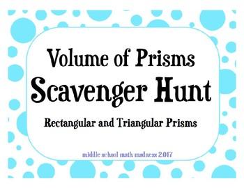 Volume of Prisms Scavenger Hunt