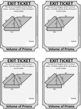 Volume of Prisms - Scavenger Hunt (no cylinders)