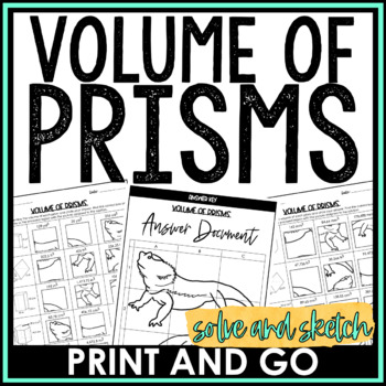Volume of Prisms Solve and Sketch Activity