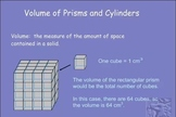 Volume of Prisms and Cylinders (SCORM)