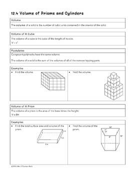 Volume of Prisms and Cylinders Lesson