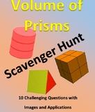 Volume of Prisms and Cylinders Scavenger Hunt