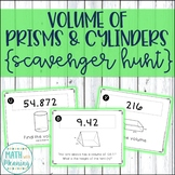 Volume of Prisms and Cylinders Scavenger Hunt Activity - CCSS 7.G.B.6 Aligned