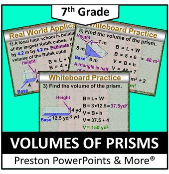 (7th) Volumes of Prisms in a PowerPoint Presentation