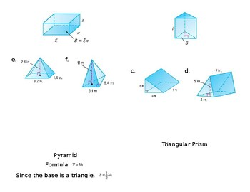 Volume of Prisms and Pyramids Foldable