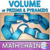 Volume of Prisms and Pyramids Math Chain