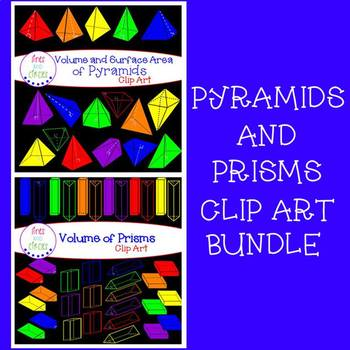 Volume of Prisms and Surface Area and Volume of Pyramids BUNDLE