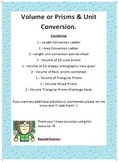 Volume of Prisms with Cubes - Worksheets & challenge cards