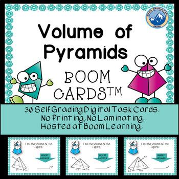 Volume of Pyramids Boom Cards