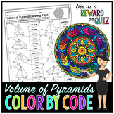 Volume of Pyramids Math Color By Number or Quiz