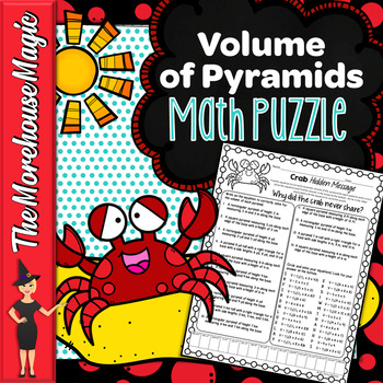 VOLUME OF PYRAMIDS COMMON CORE MATH PUZZLE