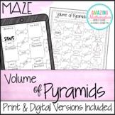 Volume of Pyramids Worksheet - Maze Activity