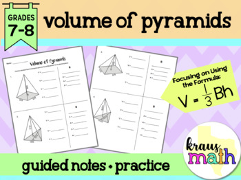 Volume of Pyramids: Guided Notes & Practice