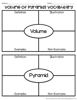 Volume of Pyramids Notes