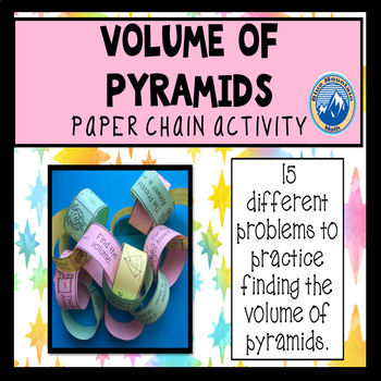 Volume of Pyramids Paper Chain Activity