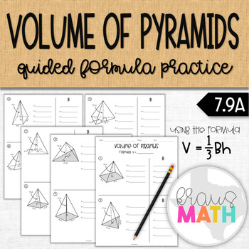 Volume of Pyramids Practice Worksheet