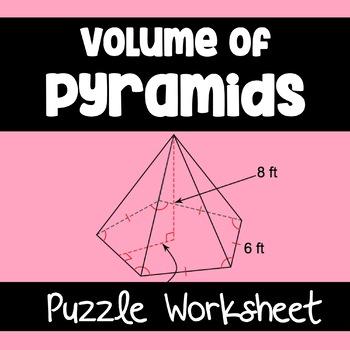 Volume of Pyramids- Puzzle Worksheet