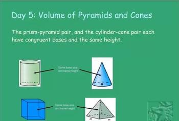 Volume of Pyramids and Cones