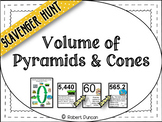 Volume of Pyramids and Cones - Scavenger Hunt & Exit Tickets