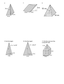 Volume of Pyramids and Prisms