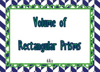 Volume of Rectanglular Prisms with Fractional Edge Lengths 6.G.2