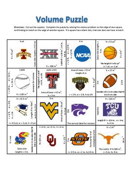 Volume of Rectangular Prism Puzzle