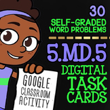 Volume of Rectangular Prisms Activity ★ Google Classroom Math Task Cards 5.MD.5