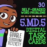 Volume of Rectangular Prisms Activity ★ Google Classroom Math Task Cards 5.MD.5