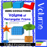Volume of Rectangular Prisms Assessment: Google Forms