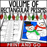 Volume of Rectangular Prisms Christmas Coloring Activity