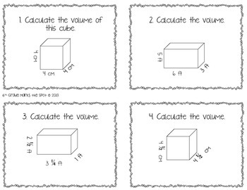 Volume of Rectangular Prisms & Cubes CCSS 6.G.2 Aligned**