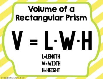 Volume of Rectangular Prisms & Cubes CCSS 6.G.2 Aligned**