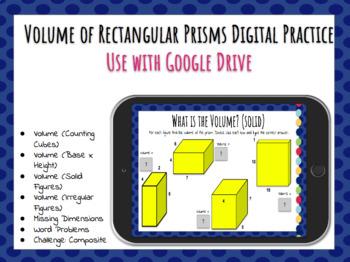 Volume of Rectangular Prisms Digital Practice