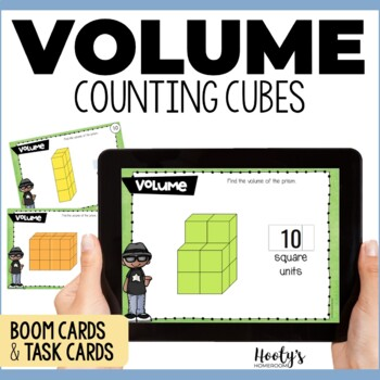 Volume of Rectangular Prisms Digital Task Cards Hosted at Boom Learning
