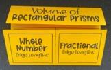Volume of Rectangular Prisms (Foldable)