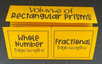 Volume of Rectangular Prisms (Foldable)