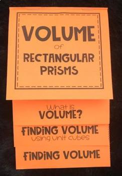 Volume of Rectangular Prisms (Foldable 5)