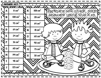 Volume of Rectangular Prisms Game: 5.MD.C.5: Volume: 5th Grade Math Game