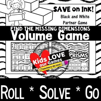 Volume of Rectangular Prisms Game: Find the Missing Dimensions: 5th Grade Game