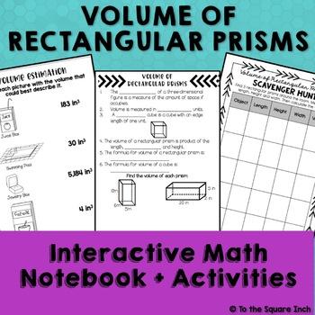 Volume of Rectangular Prisms Interactive Notebook
