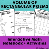 Volume of Rectangular Prisms Interactive Notebook