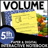 Volume of Rectangular Prisms Interactive Notebook Set