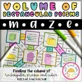 Volume of Rectangular Prisms Maze 5.4G, 5.4H, 5.6A, 5.6B