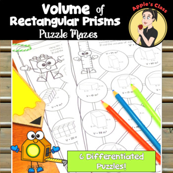 Volume of Rectangular Prisms Maze Activities