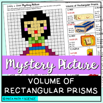 Volume of Rectangular Prisms: Mystery Picture (Princess)